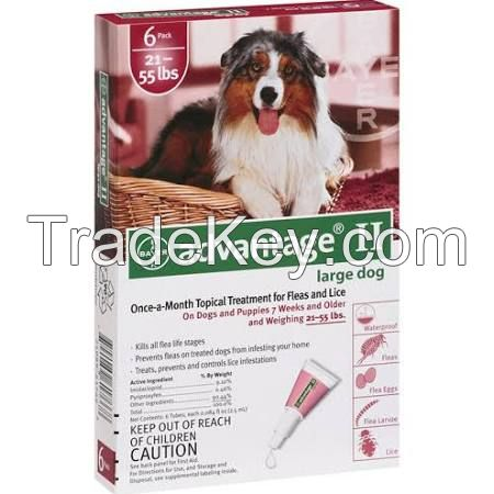 Advantage II for pets, ticks and fleas control for Large  Dogs 45-88lbs