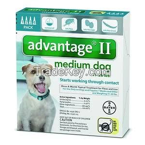 Advantage II for pets, ticks and fleas control for Medium Dogs 23-44lbs