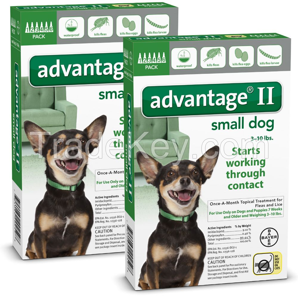 Advantage II for pets, ticks and fleas control for Small Dogs 5-22lbs