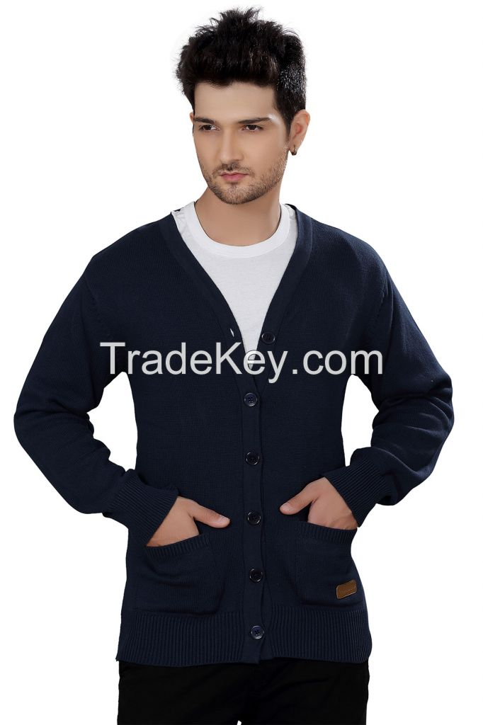 Elegance Cut Classic Cotton Men's Cardigan