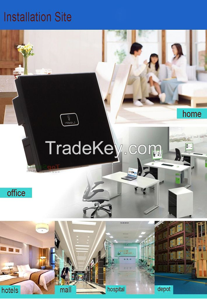 wifi mobile APP remote control light sensor touch switches