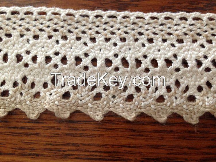 Customized double color cotton lace trims