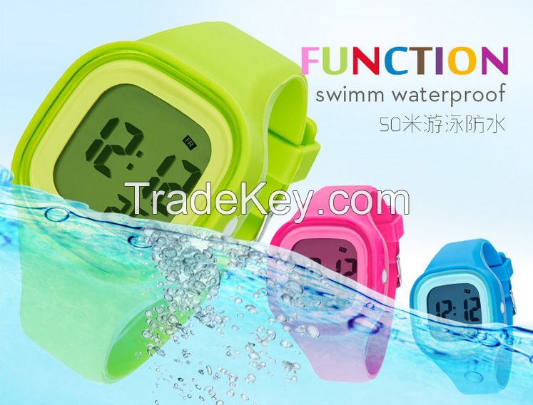 Hot Sell luminous silicone fashion design watch