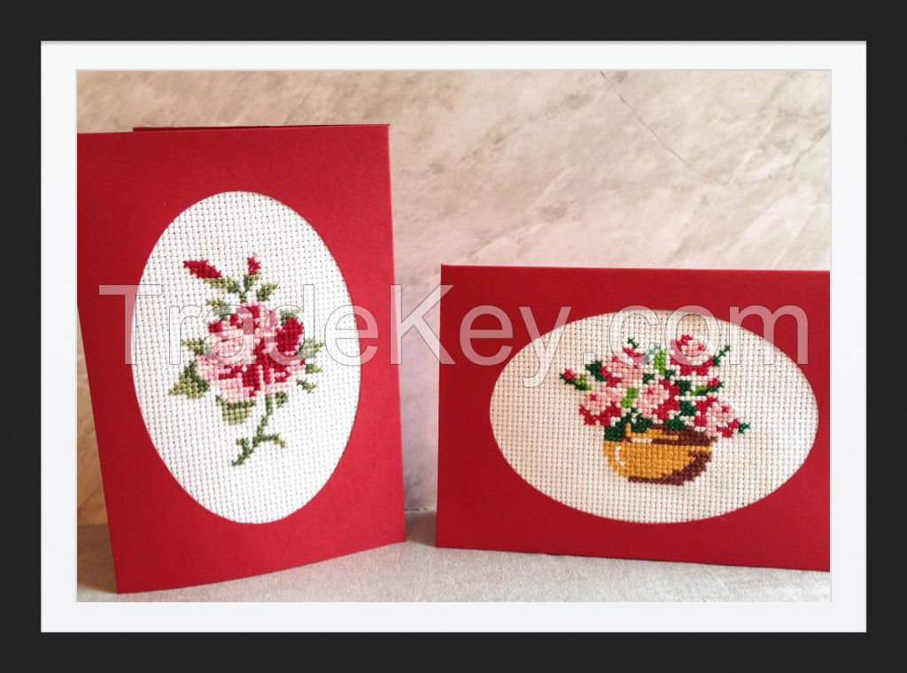 Handmade embroidery cards