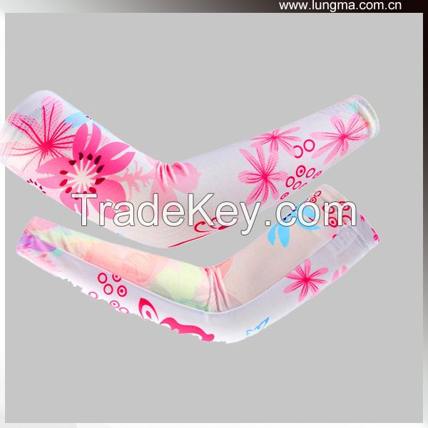 nylon spandex Printed Sports Compression arm and hand sleeves