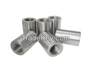 Straight screw rebar coupler
