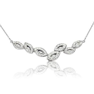 Seven miniature linked ovals necklace