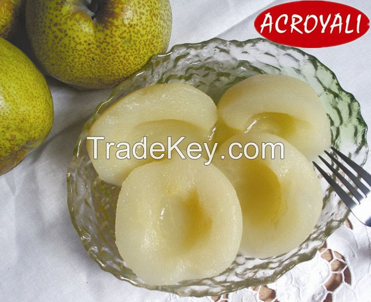 Canned snow pear in light syrup