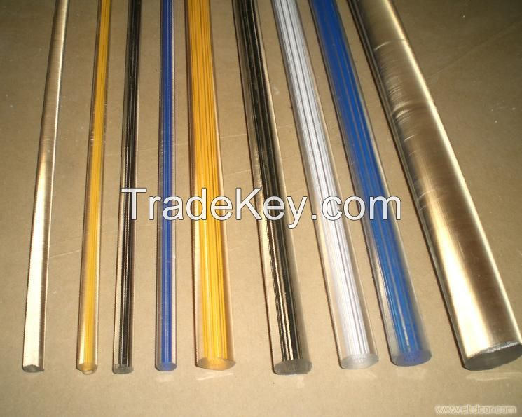 clear and colored acrylic rods