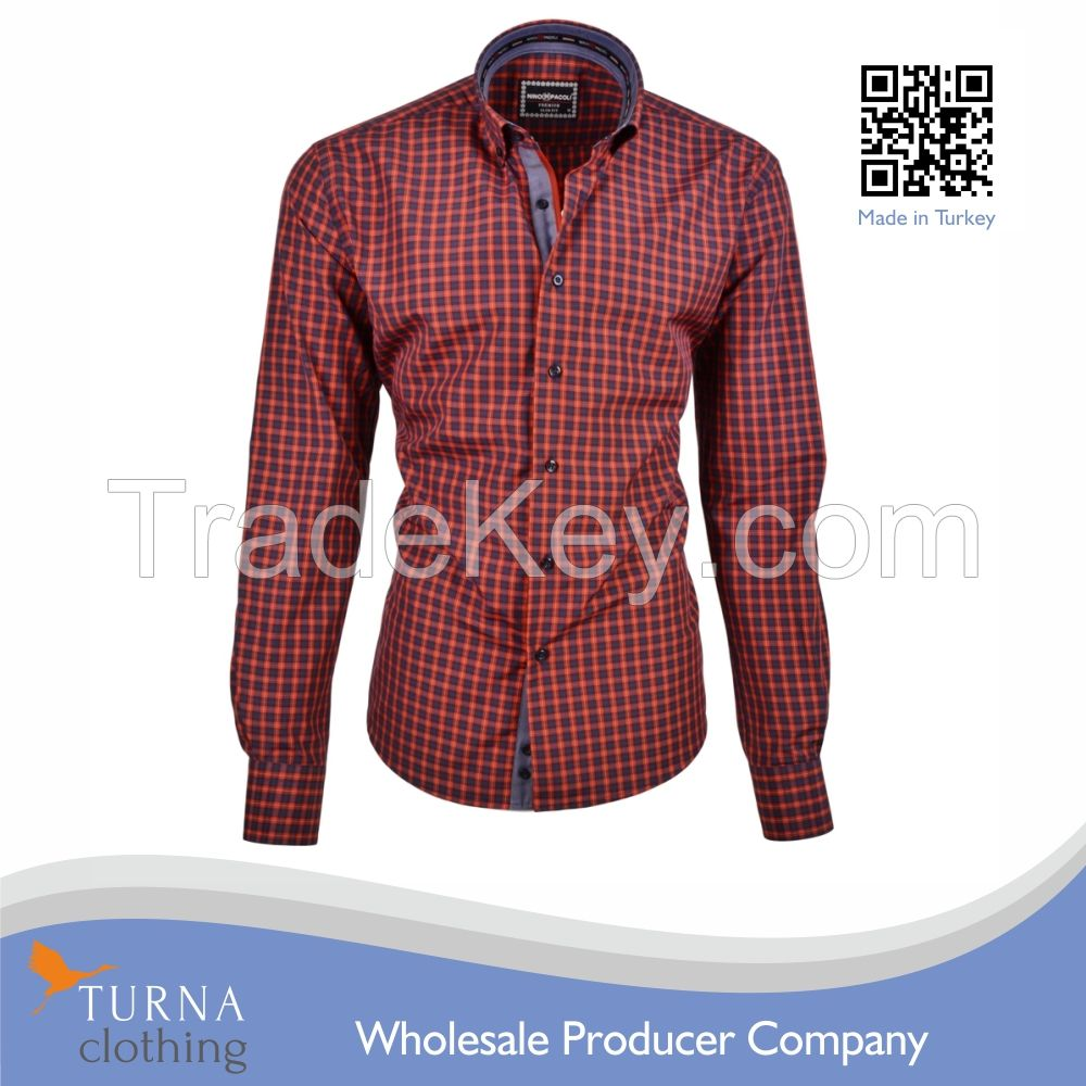 Wholesale clothing garment latest shirt designs mens dress shirts for men fashion