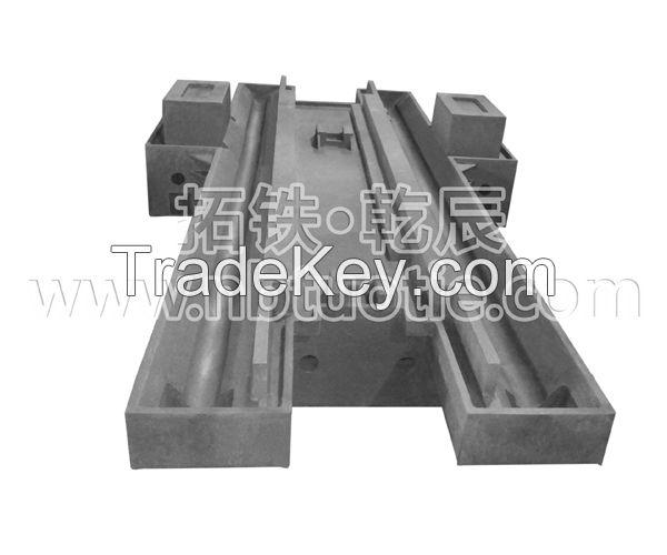 Machine lathe bed - iron cast