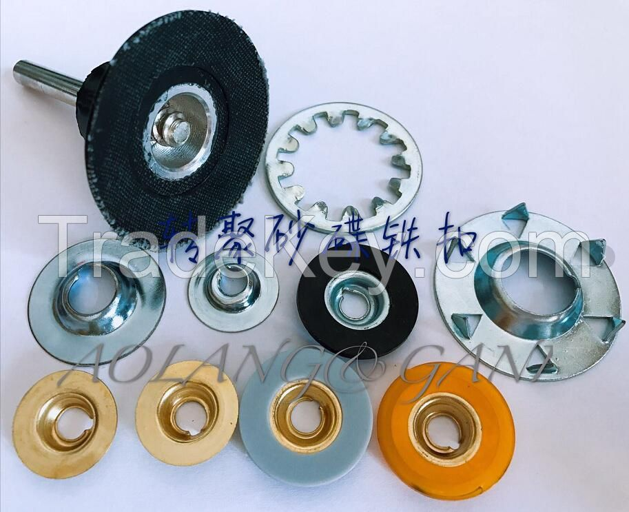 Metal button for the quick change disc or sanding disc