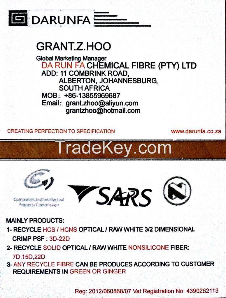 recycled polyester fiber,7,15D hollow fiber,HCS fiber,PP fiber,PET fiber