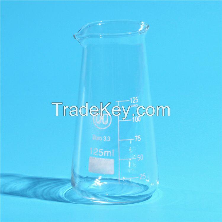 HUAOU conical glass beaker with spout , Boro 3.3 Glass