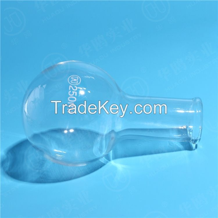 HUAOU Boiling Flask, Round Bottom, Long Narrow Neck, Boro 3.3 Glass, Boiling Flask