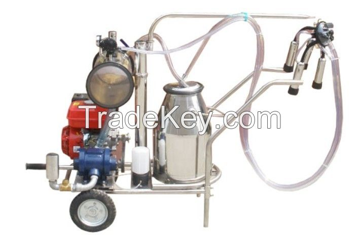 Gasoline and Electric dairy milking machine with single/two bucket