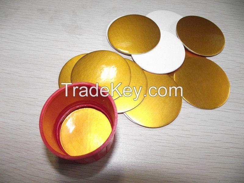PET gold induction seal liner for pesticides bottle
