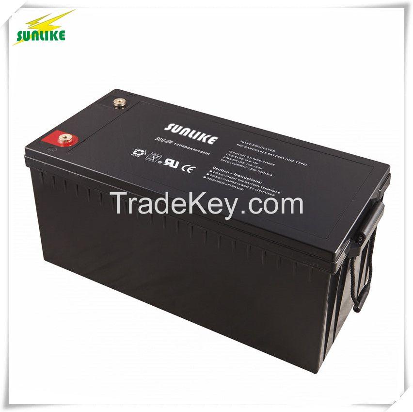 3years Warranty Solar Deep cycle AGM Battery 12V200ah