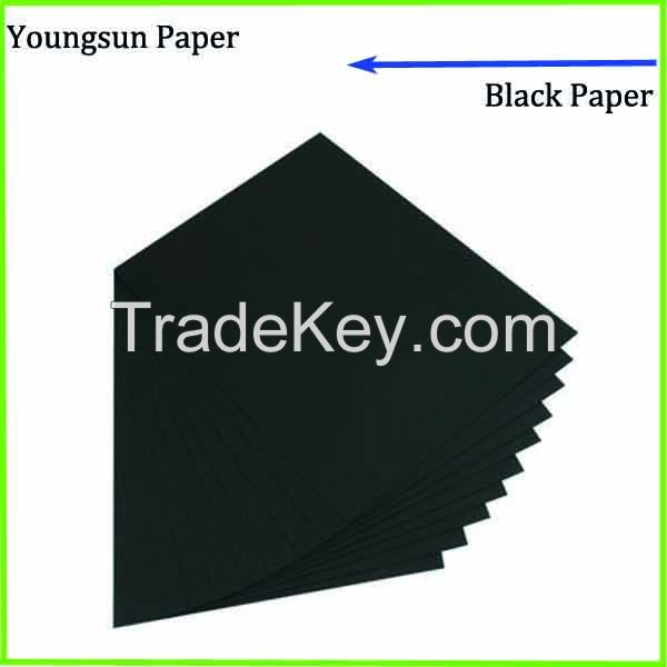 Stocklot two side coated smooth black paper cardboard sheet