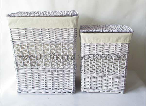 willow storage basket set of 2
