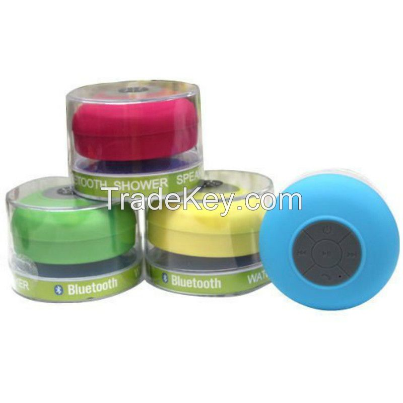 Waterproof Bluetooth Speaker Stereo Shower Speaker with Suction Cup