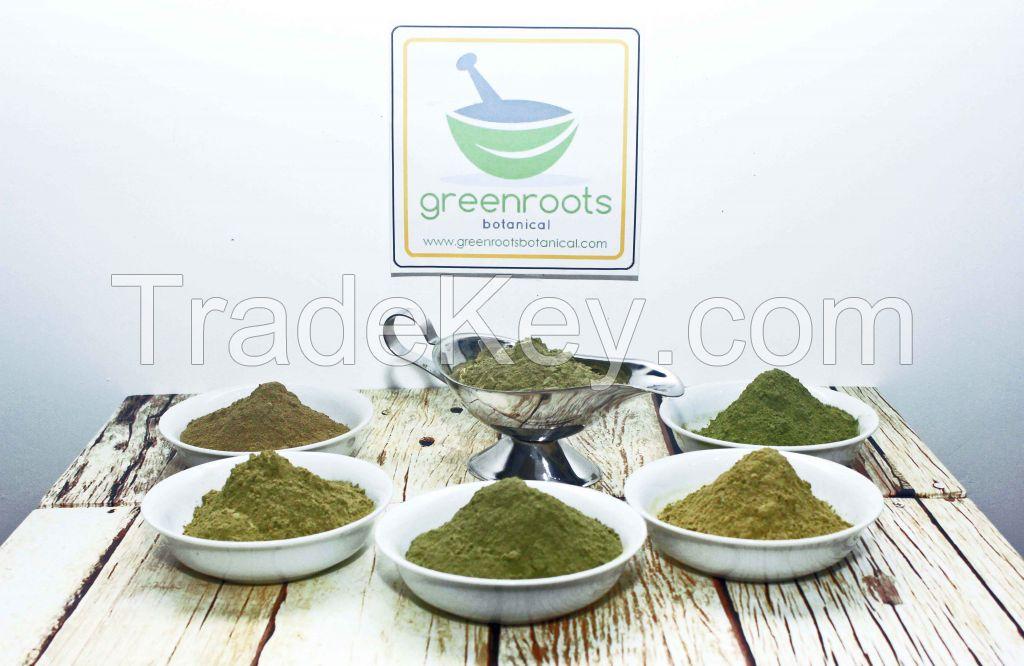 Kratom powder and crushed leaf