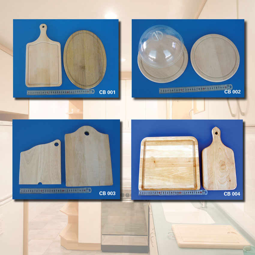 cutting board, rolling pin, spatula, ladle and so on
