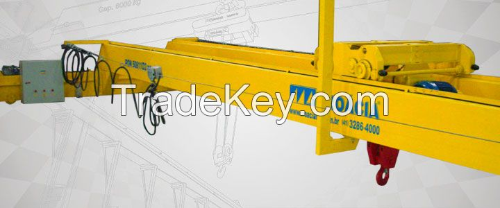 Remote control Electric trolley 1-50t double beam bridge/overhead cranes