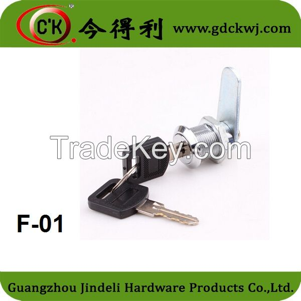 Furniture mailbox lock, Cam lock with metal plate, 103 series lock