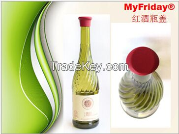 Silicone gel bottle cover
