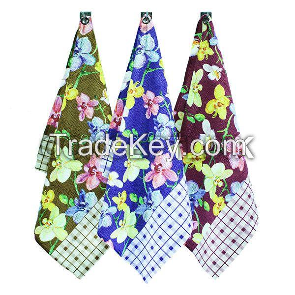 the top sale micorfiber printed kitchen towel