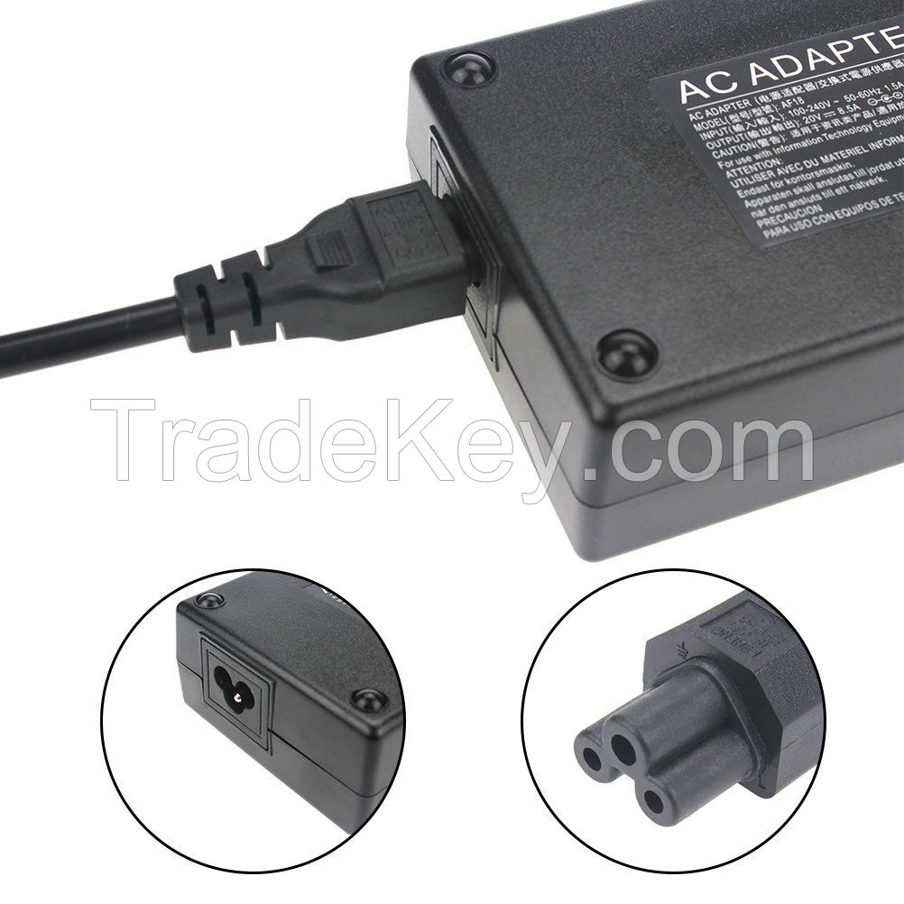 Power Adapter 170W 20V 8.5A Replacement for Lenovo ThinkPad Charger ADL170NLC2A ADL170NLC3A 45N0370 W540 E440 S431 T440p X240 Yoga 15 S5 Lenovo IdeaPad Y510p (Square Plug)