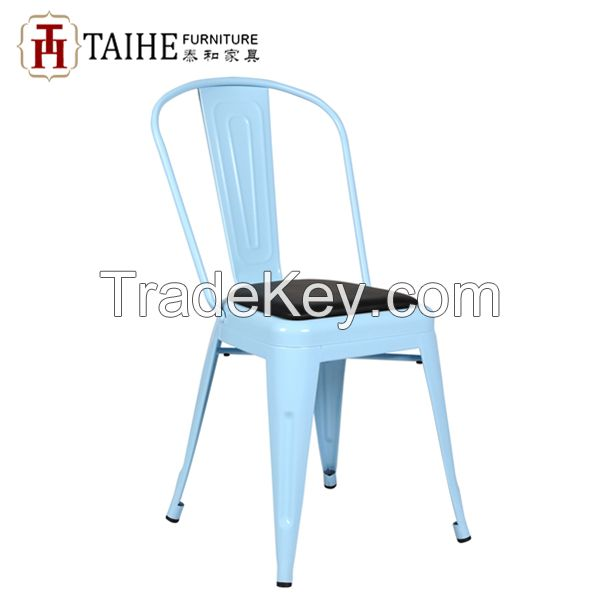 2015 hot sale comfortable metal dining chair/colorful restaurant furniture