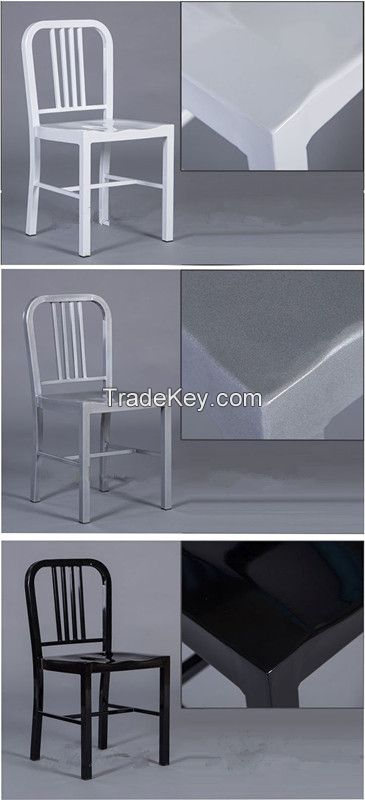 new design Metal navy dining room chair for restaurant