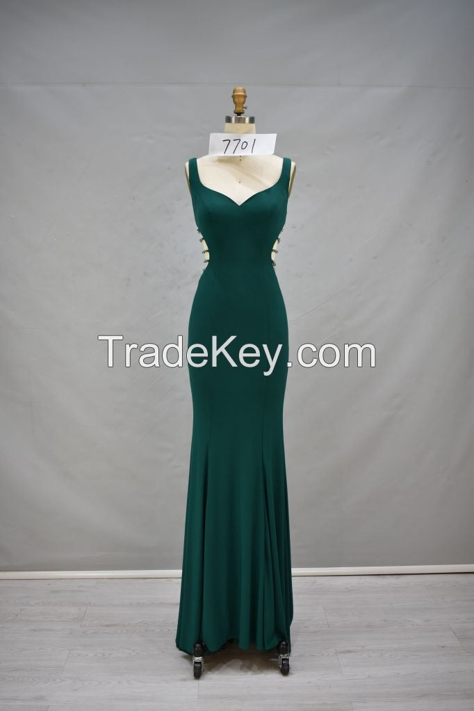 2017 evening dress handmade beading sleeveless sexy back