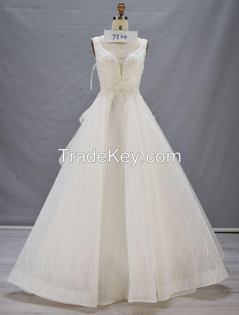 Wedding dress 2017 embriodery handmade beading  luxurious