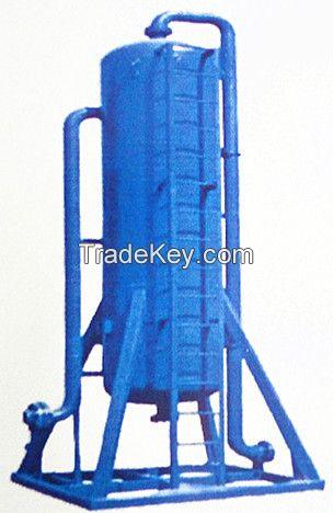 Oil drilling mud solid control mud gas separator