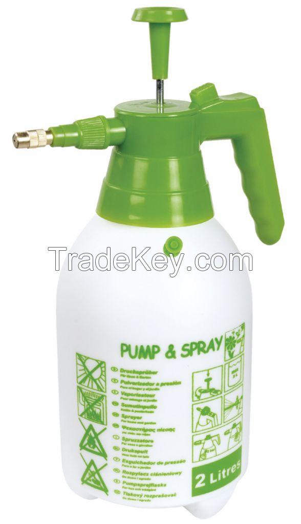 2L Pressure sprayer 1.5L plastic Manual Pump Sprayer with copper nozzle For home used spray bottle