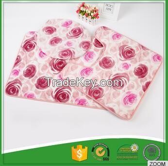 Non-woven backing toilet mat sets/toilet rug set