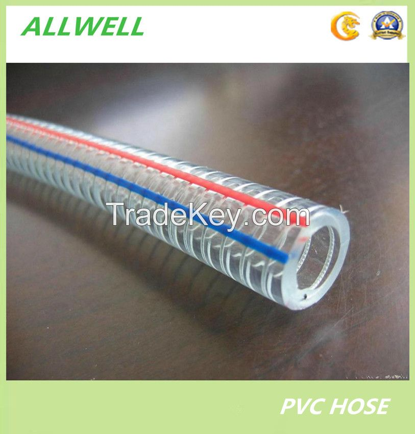 PVC Industrial Steel Wire Reinforced Water Discharge Pipe Hose