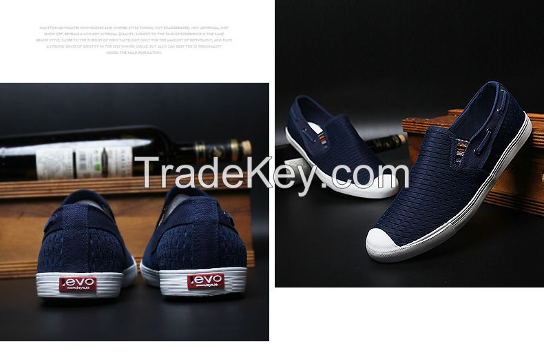 LEYO summer man shoes navy, black, grey double mesh casual shoes classic slip-on sneaker