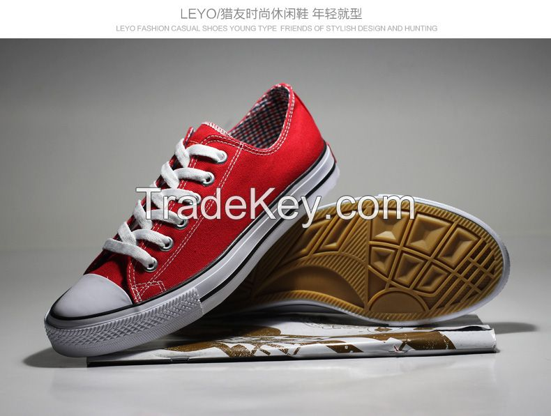 LEYO summer man shoes canvas casual shoes classic lace-up sneaker