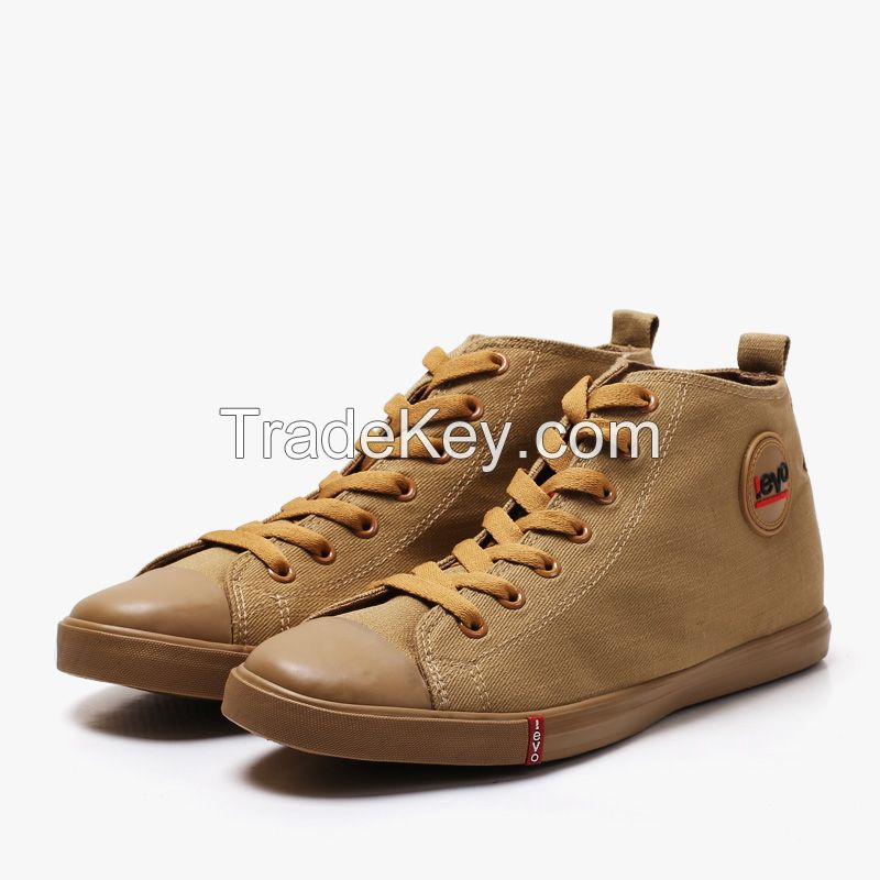 LEYO 2016 summer man shoes solid color canvas casual shoes fashion lace-up sneaker