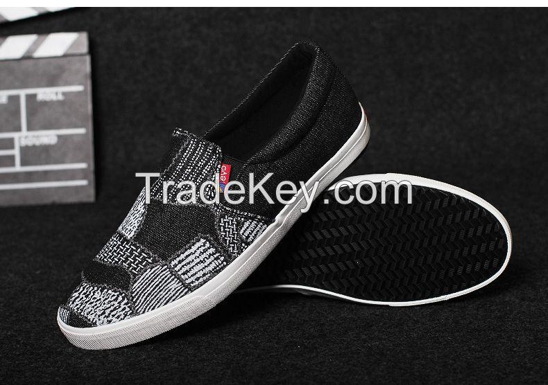LEYO summer man shoes denim casual shoes fashion slip-on sneaker