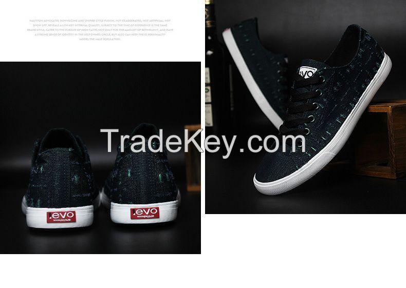 LEYO 2016 summer man shoes denim shoes fashion lace-up sneaker