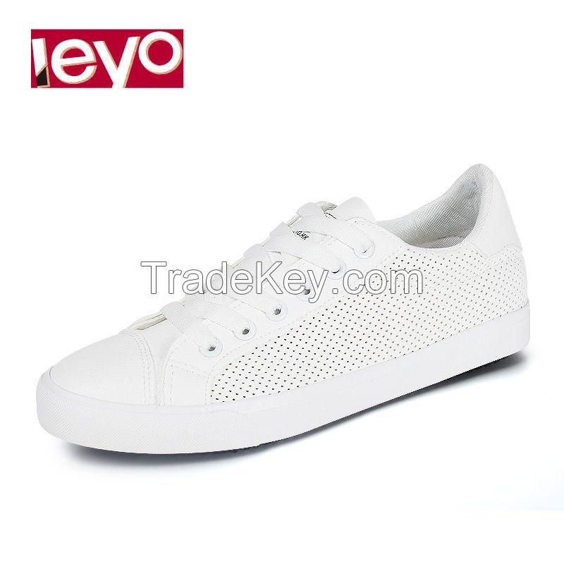 LEYO women casual shoe pu lace-up sneaker