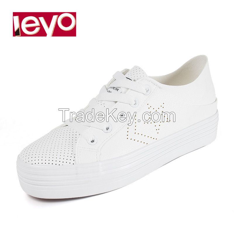 LEYO 2016 SUMMER WOMAN CASUAL SHOES PUNCH PU LACE-UP and SLIP-ON SNEAKER