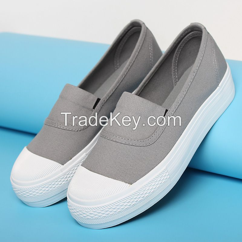 LEYO 2016 SUMMER WOMAN CASUAL SHOES WASHED CANVAS SLIP-ON SNEAKER