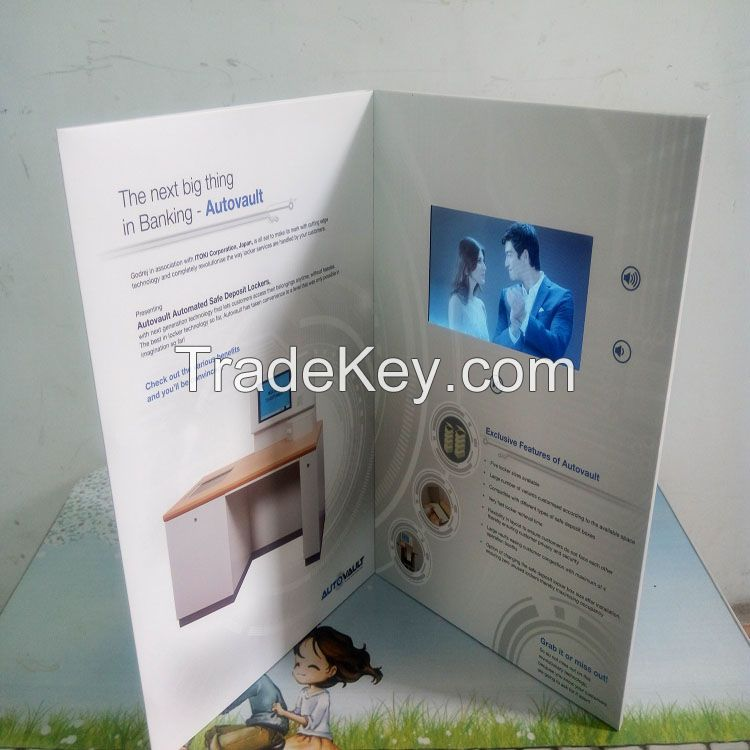 5inch LCD Vedio Advertising Card/Promotional Brochure/Greeting Card/Wedding Invitation Card