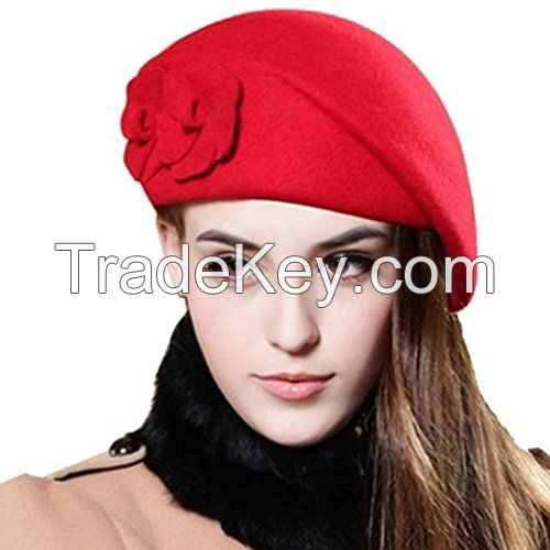fashion cheap red wool beret caps